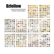 Увлекательные diecut lot приколы ноутбука, лист(ов) улыбка смешные стикеры emoji винил