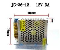 50 шт./упак. переключатель Питание драйвер Трансформаторы OUTPUT12V 3A 36 Вт для Светодиодные ленты свет