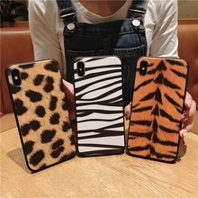 IMIDO New Leopard TPU Soft Silicone Case For iphone 6/7/8/X Cases Cute Simple Anti-fall Lanyard Fashion Phone Back Cover