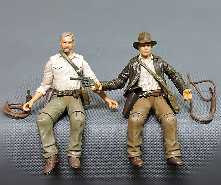 1pcs 7.5cm Cartoon anime Indiana Jones Action Figures Dolls kids PVC education model for collection toy d11 image