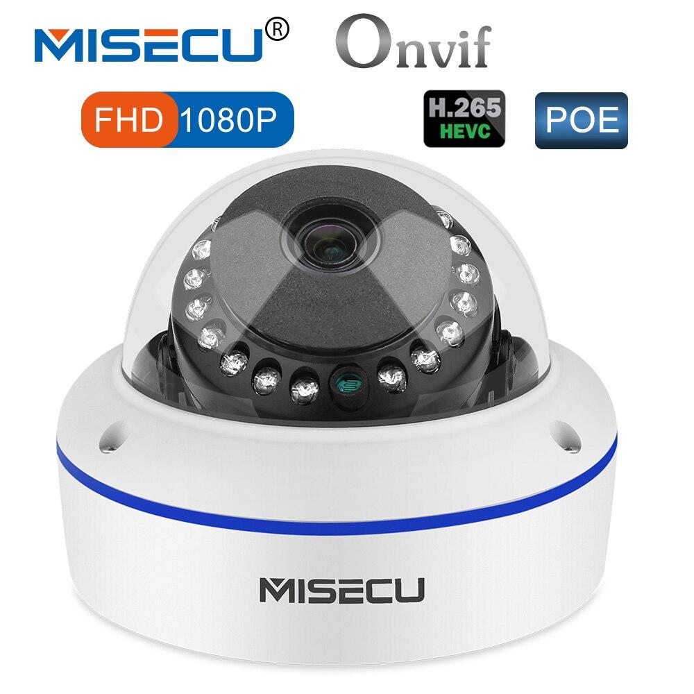 MISECU 48 v POE HI3516C + SONY IMX322 H.265/H.264 Ip-kamera 2,8mm Vandalproof 2.0MP Überwachung Video Dome kamera Full HD ONVIF