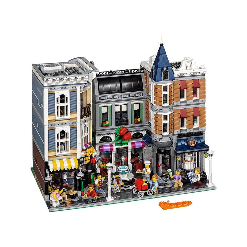 Bevle 15019 4002pcs MOC Creative City Street The Assembly Square Set  Building Building Block Bricks Toys Compatible with Lepin loymina обои loymina 4002 laс4 002