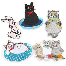 Obesity Animal Patch Embroidered Patches For Clothing Iron On For Close Shoes Bags Badges Embroidery obesity