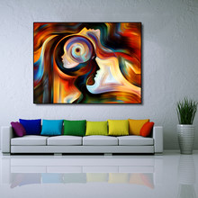 AAVV Oil Painting On Canva Sinvisible Man Abstract For Living Room For Bed Room Wall Art Home Decoration Fine Picture No Frame(China)