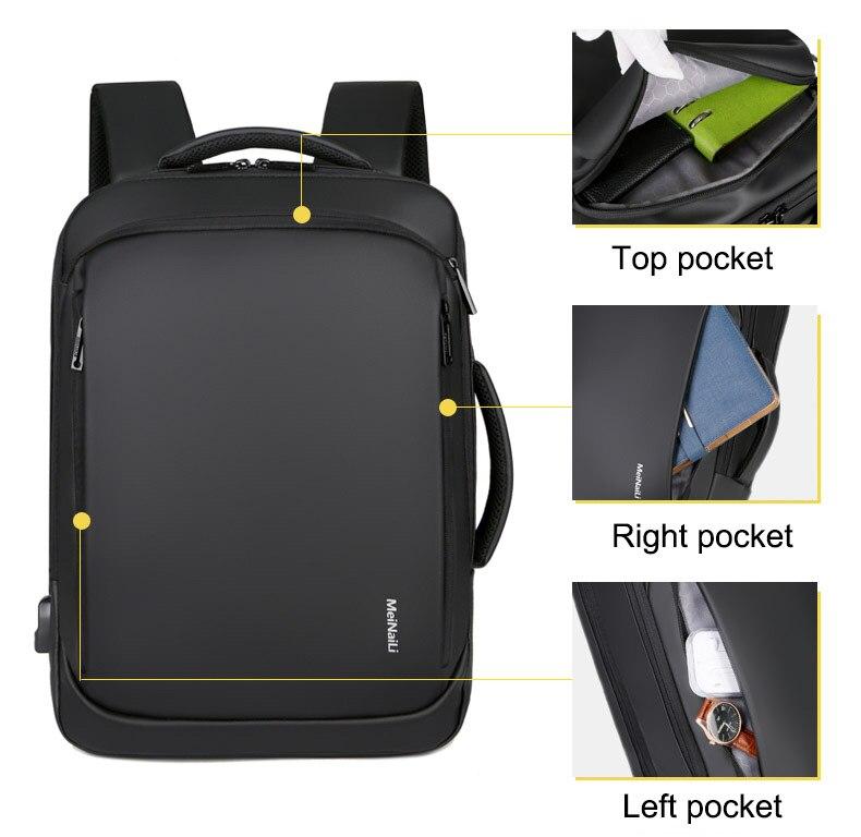 Sac à dos pour ordinateur portable multifonctionnel 4