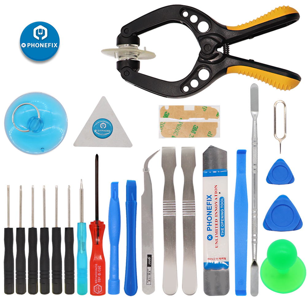 24 IN 1 Mobile Phone Screen Opening Repair Tool Kit Spudger Tweezers Screwdrivers Set For IPhone Samsung Remove Screen Tools