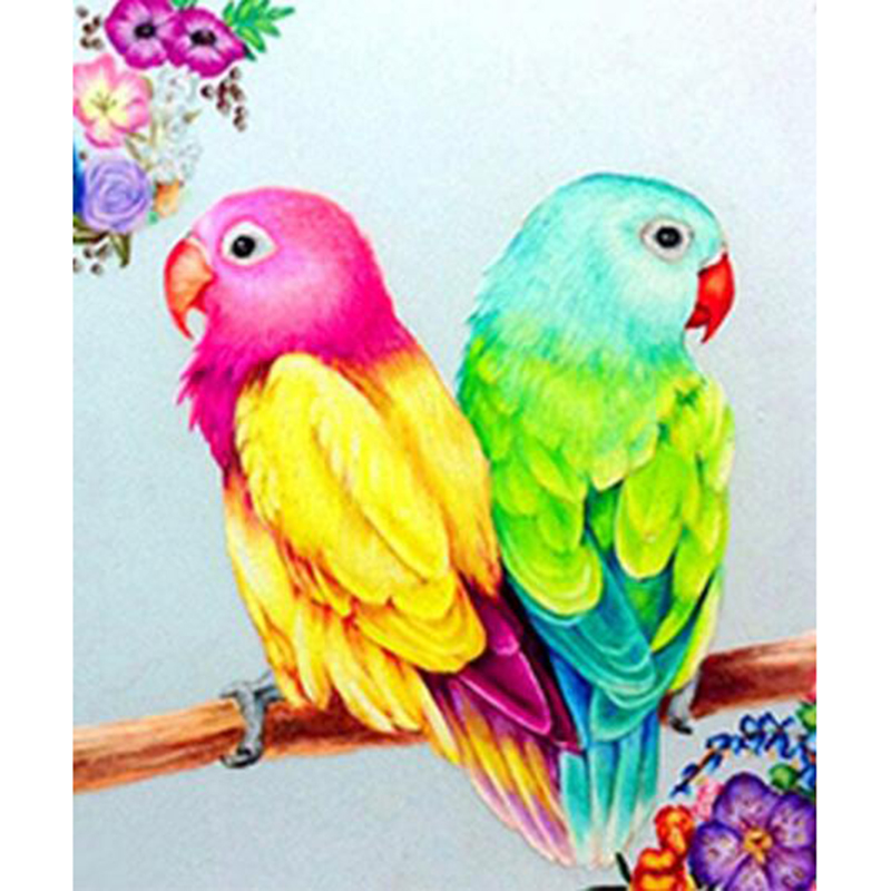 New Diy Diamond Paintings Animals Diamond Embroidery Parrot Cross Stitch 5d Full Square/round Rhinestones Mosaic Home Decor Z394 Commodities Are Available Without Restriction Needle Arts & Crafts Diamond Painting Cross Stitch