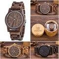 2019 Uwood деревянные часы деревянные мужские наручные часы Деревянный ремешок Япония движение '2035 кварцевые модные деревянные часы мужские ...