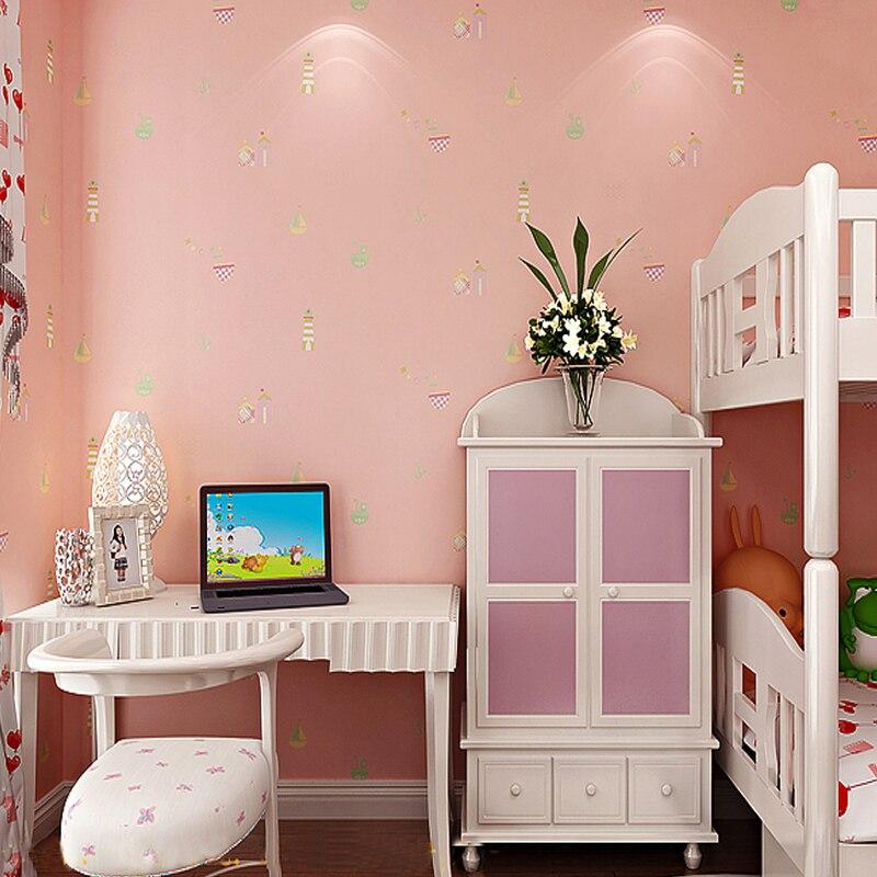 Mediterranean Style Non woven Thicken Wallpaper 3D Children Room ...
