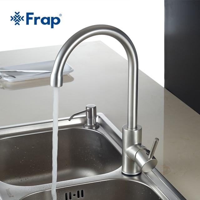 Frap горячей и холодной воды классический кухонный кран пространство Алюминий матовый процесс поворотный кран 360 градусов вращения F4052