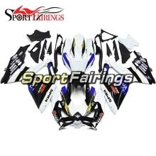 Completos Kits de Injeção ABS Carenagem Para Suzuki GSXR 600-750 GSXR 750 K8 2008 2009 2010 Moto Carenagem Branco Azul Escuro Cowls