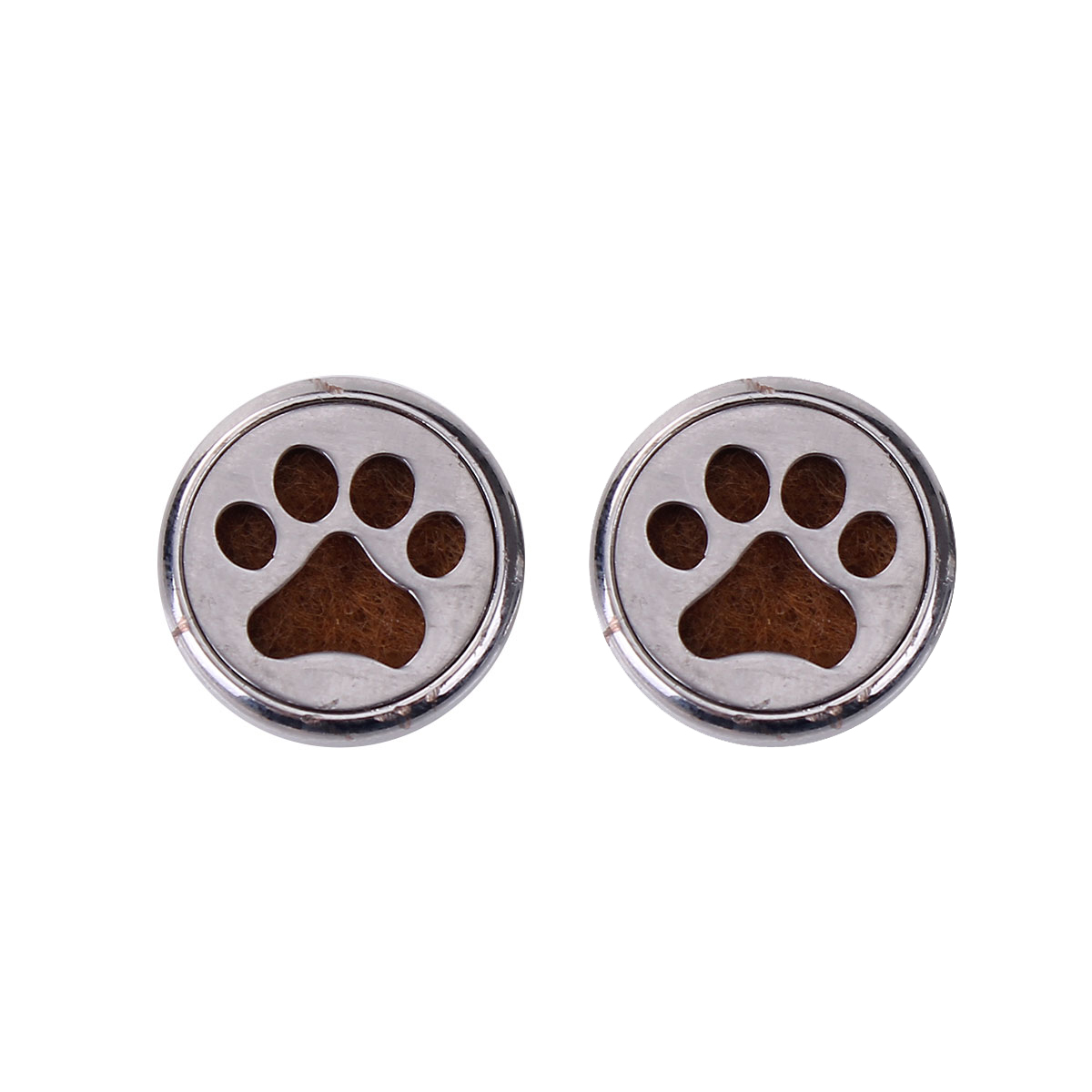20mm Stainless Steel Snap Button Fit Snap Button Bracelets Round Silver Tone Felt Oil Diffuser Pads Claw, Knob Size: 5.5mm ...