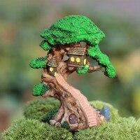 DIY Террариум Micro озеленение эльф дерево дом искусственный Сказочный Сад миниатюрные фигурки для дома номер украшения офиса