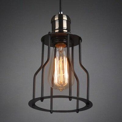 Iron Pendant Lights Vintage Hanglamp Lighting Pendant Loft Edison Light Fixtures suspension luminaire Industrial Lamp