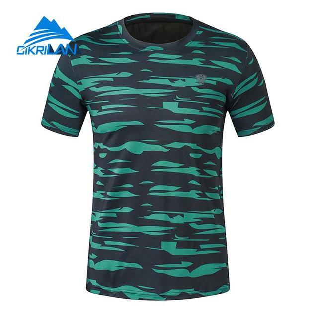 39ee3087566e Summer Camo Male Quick Dry Short Sleeve Outdoor Sport T-shirt Hiking  Climbing Runing T Shirt Men Camping Football Cycling Tops