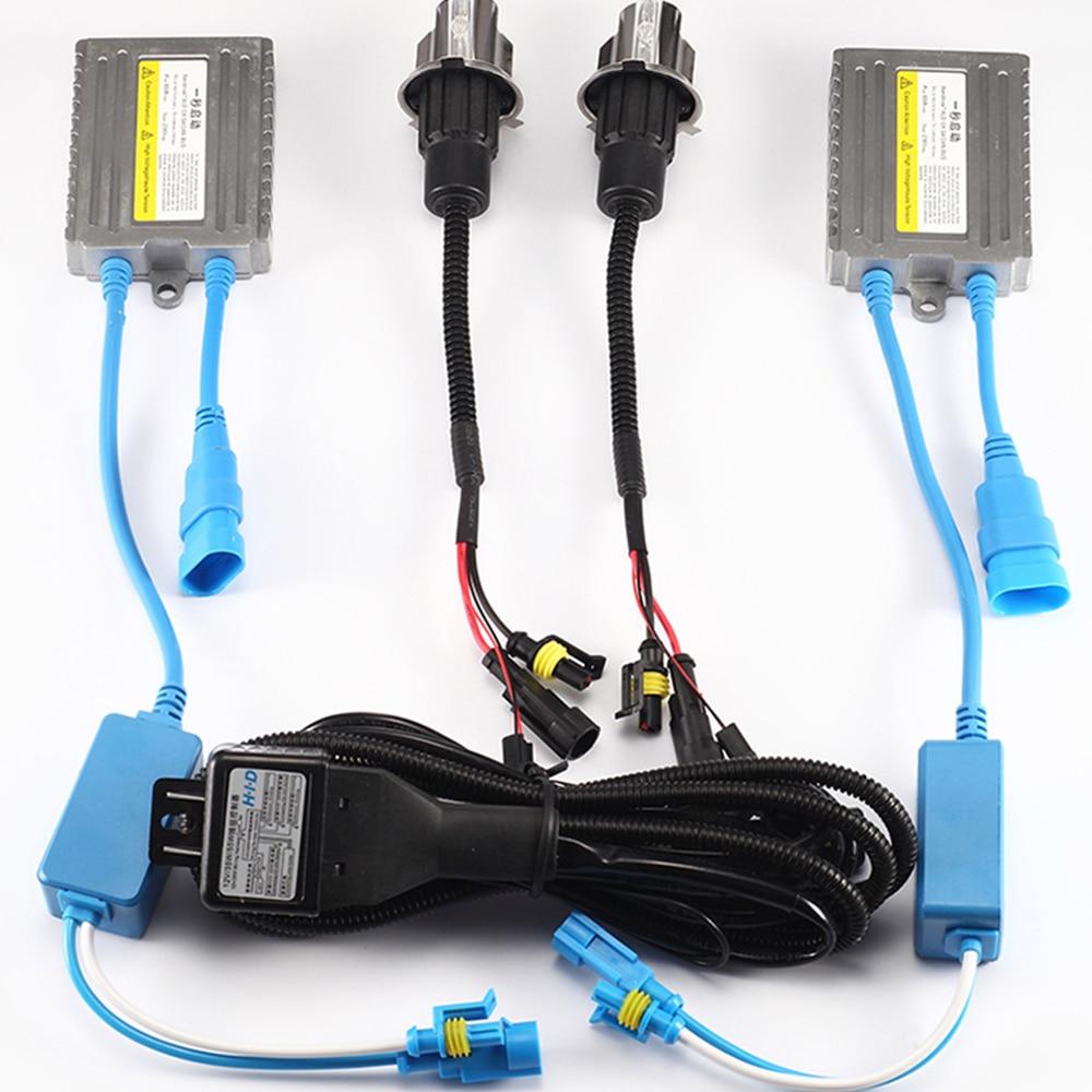ZUORUI HID xénon phares SET avec démarrage rapide Ballast H1 xénon ampoules H3 H4 H7 H11 9005 HID voiture xénon phares 1 paire 50004