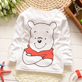 2016 Children Clothes Girls Boyst T- shirt Cartoon Bear Children T-shirts 100% Cotton Children's long sleeve T-Shirt  F116