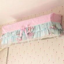 Princesa de impresión pastoral cubierta a prueba de polvo de la decoración textil del hogar de aire acondicionado colgando cubierta de aire acondicionado cubre ajuste para 1/1. 5 P