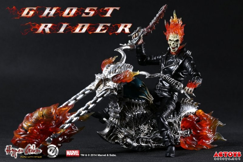 Estartek EZHOBI TOYS PVC 1/9 Ghost Rider + Motorcycle Set Collection Action Figure For Fans Holiday Gift