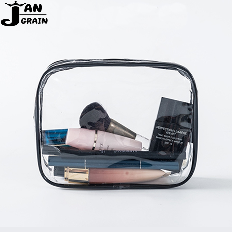 Transparent PVC Cosmetic Bag Women Men Travel Makeup Bag Zipper Make Up Organizer Storage Pouch Toiletry Beauty Wash Kit Case 3pcs set women transparent cosmetic bag clear zipper travel make up case makeup beauty organizer storage pouch toiletry wash bag page 7