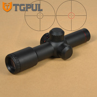 TGPUL Red Illumination 4 5X20 Mil Dot One Piece Scope With Flip Up Cover For Hunting