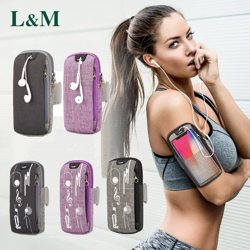 2019 Arm Rushed 5.5-6.2 Inch Outdoor Sport Fitness/waist Bag Running Earphone Hole Jogging Gym Armband Phone Pouch Holder