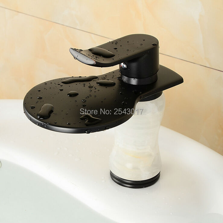 Bathroom Marble Faucet Black Bronze White Marble Stone Mixer Tap ...