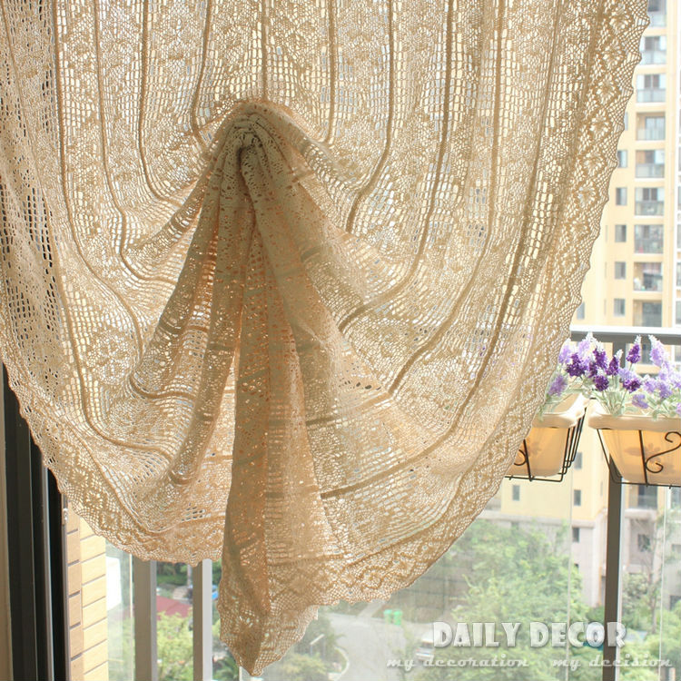 100% cotton vintage crochet curtains Rideau tende vorhang Gardiner ...
