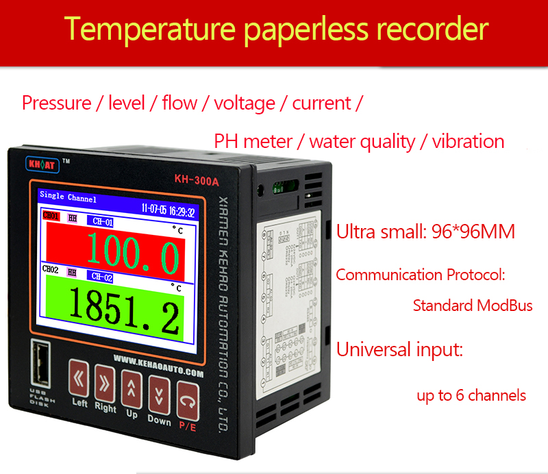 Paperless Recorder High Precision industrial Temperature and Humidity Electric Pressure Detector