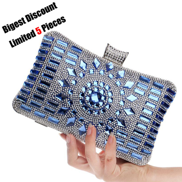Luxury Designer Brands Diamond Crystal Mini Evening Party Bag Women Day Clutches Ladies Chain Gold Clutches Purses and Handbag