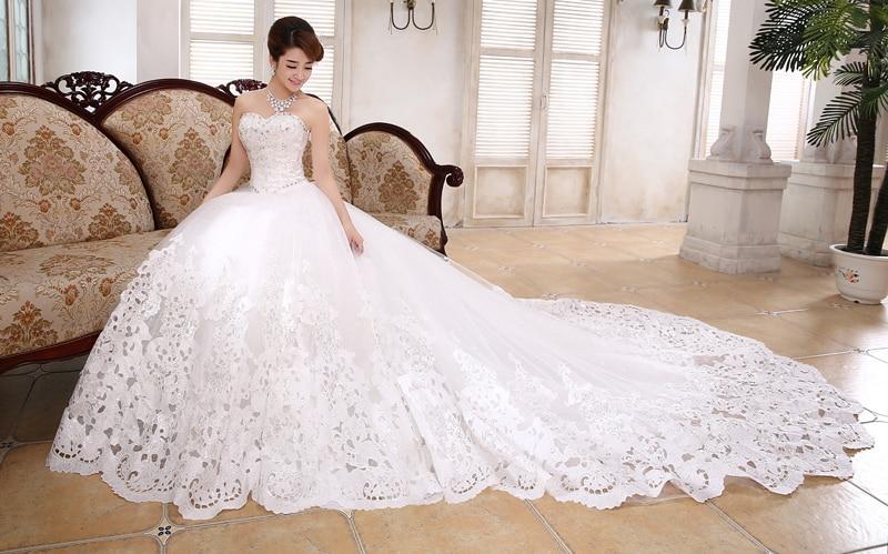 Robe De Mariage Latest Design Ball Gown Train Wedding