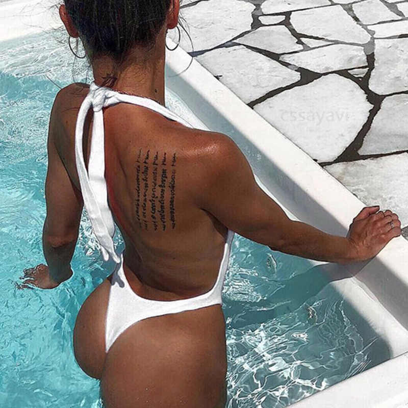 Swimsuits Woman 2018 One Piece Swimsuit May Women Fused Swimwear Female Bather Sexy Thong Backless Monokini Beach Bathing Suit