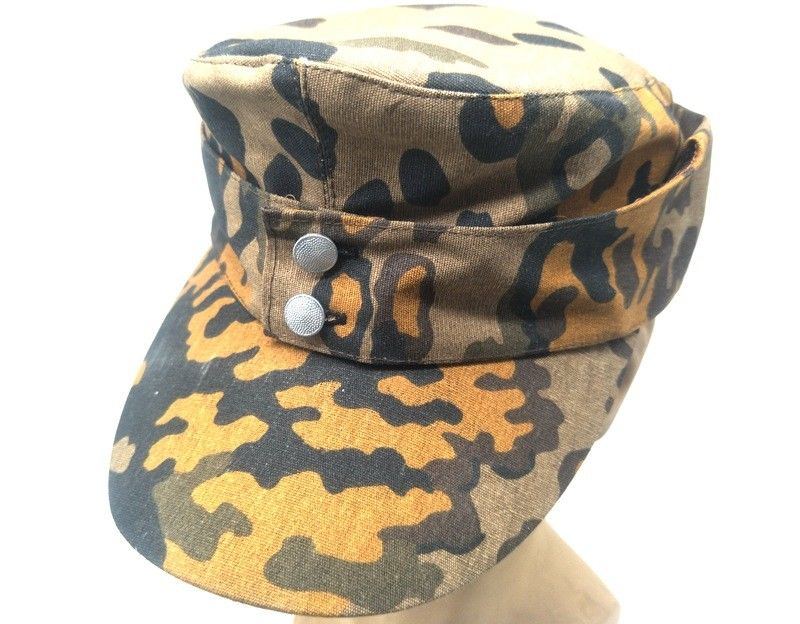 83f77d5d287 WWII GERMAN ARMY EM SUMMER PANZER M43 FIELD HAT FALL OAK CAMO CAP IN SIZES  - World military Store