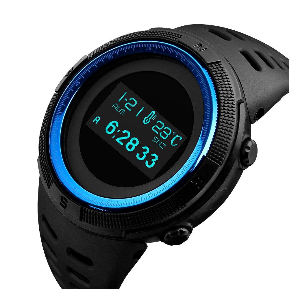 Relógios ao ar Relógio de Pulso Skmei Marca Masculino Esportes Livre Relógio Digital Horas Altímetro Contagem Regressiva Pressão Bússola Termômetro