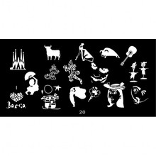 1pc 6*12CM JR-series Nail Art Image Printing Plate Girl/Cattle/Guitar Design Stamping Plates Polish Templates #20