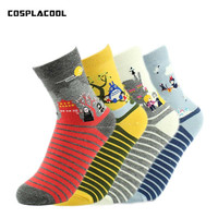 COSPLACOOL Cute Cat Pug Socks Women Young Girls Short Lace Breathable Meias Cotton Hip Hop