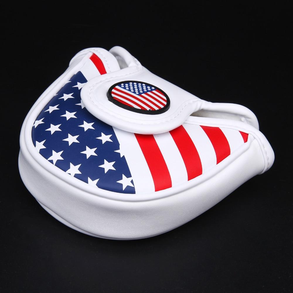 Siranlive Гольф молоток крышка головки клюшки крышка с магнитным Синтетическое закрытие волос Гольф шлем флаг США Бесплатная доставка