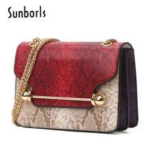 ФОТО famous brand women messenger bag leather serpentine panelled crossbody bag fashion design shoulder bag chain women bag 5e4284