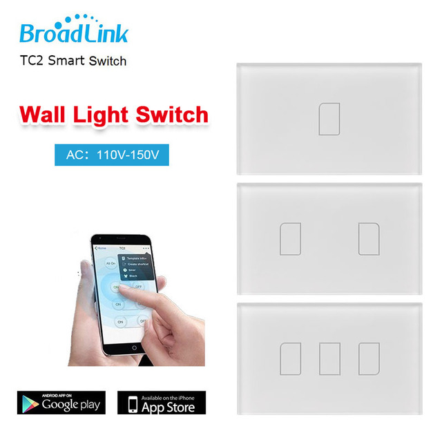 Original broadlink tc2 123 gang wireless wall light control touch original broadlink tc2 123 gang wireless wall light control touch panel wifi mozeypictures Choice Image