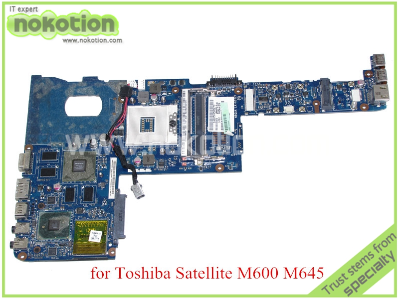 все цены на Laptop motherboard for toshiba satellite M600 M640 M645 K000109650 NBQAA LA-6072P HM55 N11P-LP2-A3 DDR3 Mother Board онлайн
