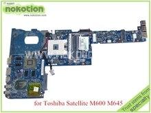 Placa madre del ordenador portátil para toshiba satellite M640 M645 M600 K000109650 NBQAA LA-6072P N11P-LP2-A3 HM55 DDR3 Placa base