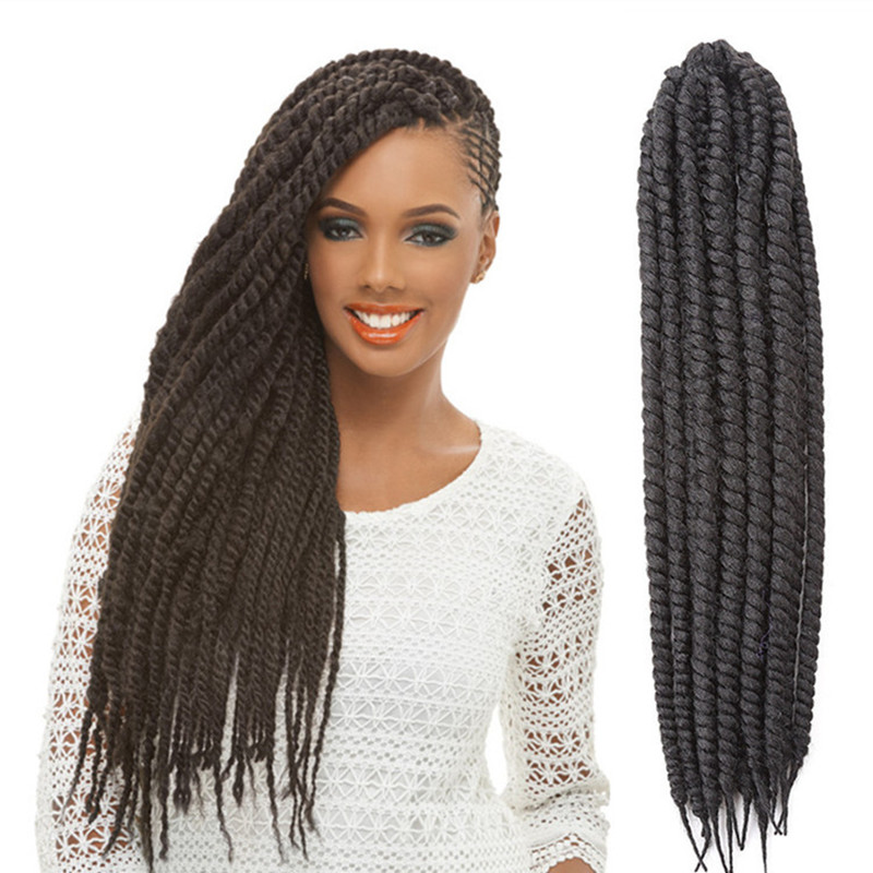 Long Eunice Hair Products Afro Twist Crochet Braid Hair Senegalese ...