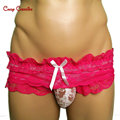 Candy Cherries Sissy panties Lace gay men underwear jockstrap sous vetement homme sheer mens underwear ropa interior hombre M