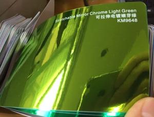 Image 3 - New Arrival High stretchable mirror light green Chrome Mirror flexible Vinyl Wrap Sheet Roll Film Car Sticker Decal Sheet