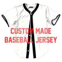2018 Fashion Custom Made DIY Jersey Casual 3D T shirts Men's Shirts Streetwear Baseball Tee Shirt Funny Tops Drop Ship