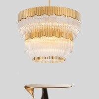 Постмодерн Nordic Роскошные K9 лампа из хрустального стекла тени светодиодный круглый свет 5/7/13 светящаяся гирлянда свет набор крепежей Декор С