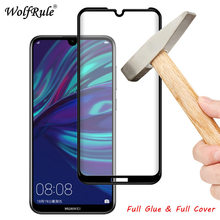 2pcs LCD Screen Protector Film Huawei Honor 8A Full Glue Protective Glass Y6 2019 Full Cover Tempered Glass For Huawei Honor 8A 2pcs full cover tempered glass for huawei honor 8a pro honor 8a protective glass screen protector for huawei honor 8a pro
