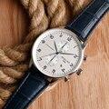 Reloj de los hombres A Prueba de agua 50 m Fecha Display de Cuarzo Resistente Al Agua Reloj de Pulsera de Lujo del Movimiento de Japón De Big Dial Hombre Reloj Hora