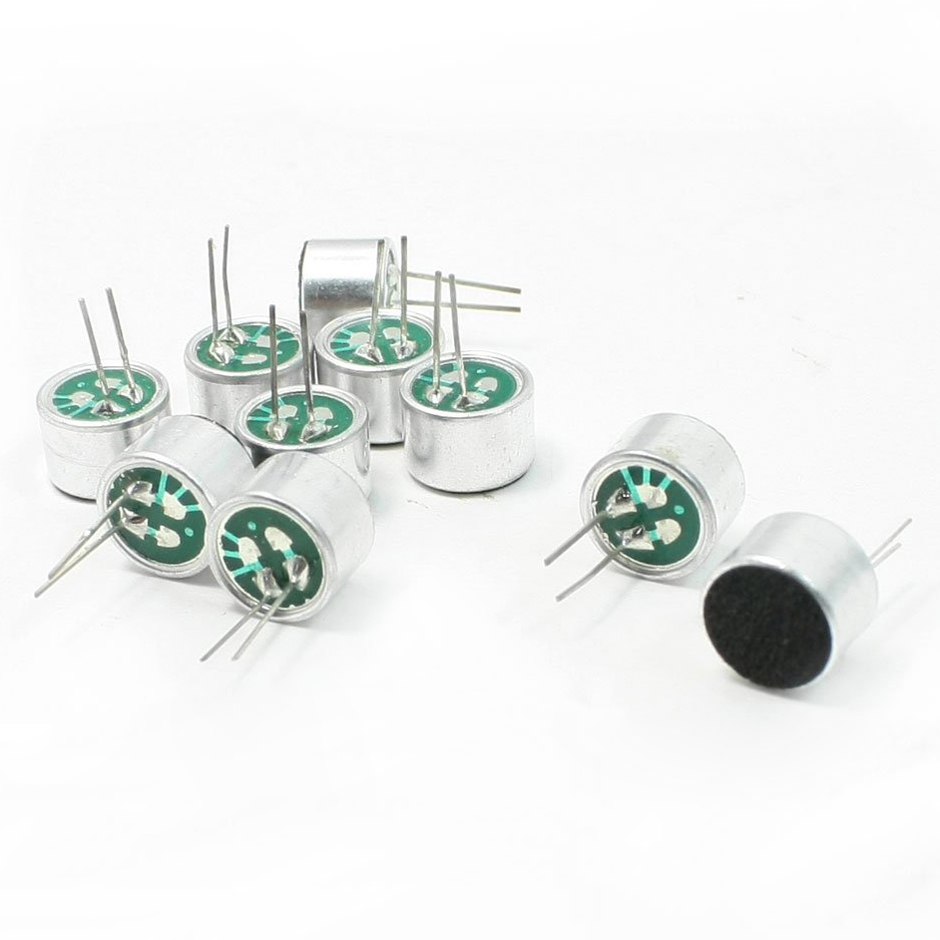 online buy whole electret microphone wiring from brand new 10 pcs 9 7mm x 7mm 2 pin mic capsule electret condenser microphone