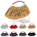 ZriEy Fashion Day Clutches Ladies Handbags Classic Package Women Vintage Hasp Beading Evening Bags 7 Colors